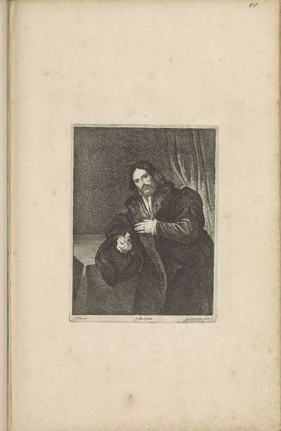 Portret van een man met een gouden klauw, mogelijk Leonino Brembate