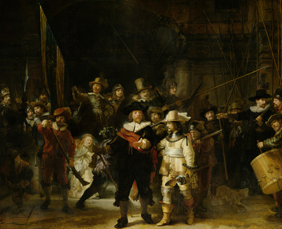 Militia Company of District II under the Command of Captain Frans Banninck Cocq, Known as the 'Night Watch' | Rijn, Rembrandt van