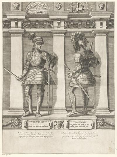 Dubbelportret van Hunifridus en Luitfridus van Habsburg; Portretten van leden van het Oostenrijkse Huis; Austriacae gentis imaginum