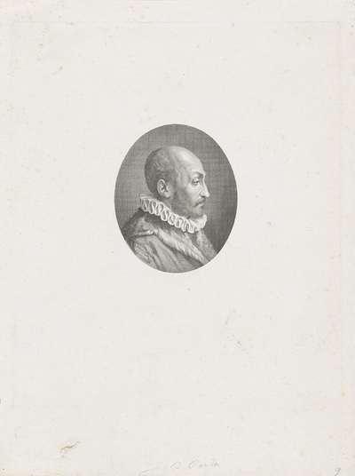 Portret van Giovanni Battista della Porta; Portretten van beroemde Italianen in ovalen