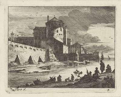Gezicht op een havenplaats, D; Italiaanse havenplaatsen