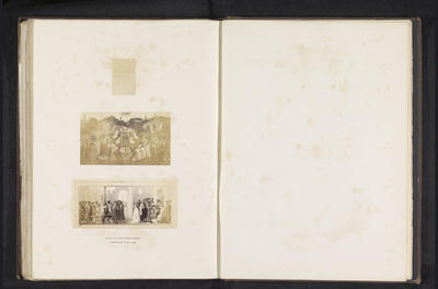 Drie fotoreproducties van een publicatie door de Arundel Society met schilderijen van Jan van Eyck en Masaccio