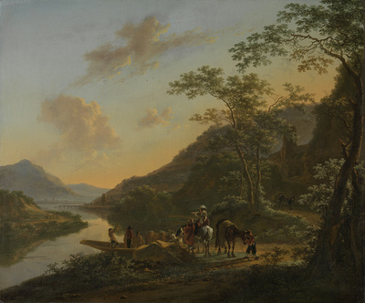 Image from object titled Italian Landscape with Ferry