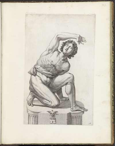 Standbeeld van een terugdeinsende gladiator; Galleria Giustiniana del Marchese Vincenzo Giustiniani I
