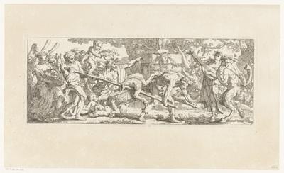 Offerande aan Bacchus; Les travaux de la vendange