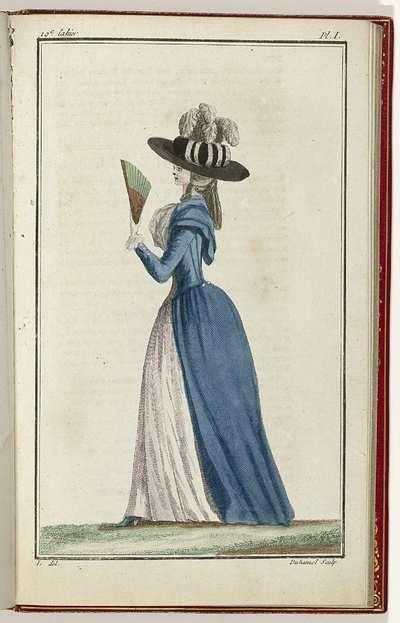 Cabinet des Modes ou les Modes Nouvelles, 15 Aout 1786, pl. I