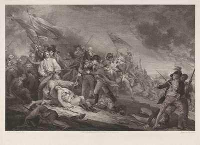 Slag bij Bunkers Hill, 17 Juni 1775, naar John Trumbull