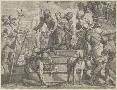 Het martelaarschap van de heilige Justina van Padua (onderste helft)