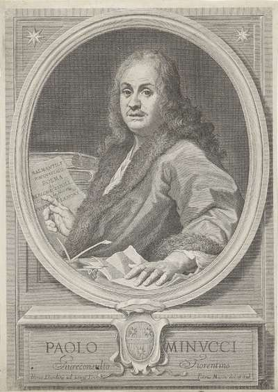 Portret van schrijver Paolo Minucci