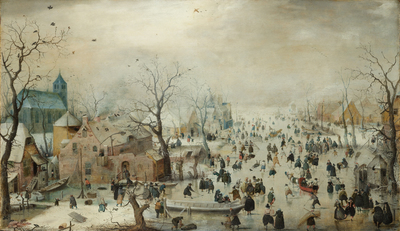 Image from object titled Winter Landscape with Ice Skaters