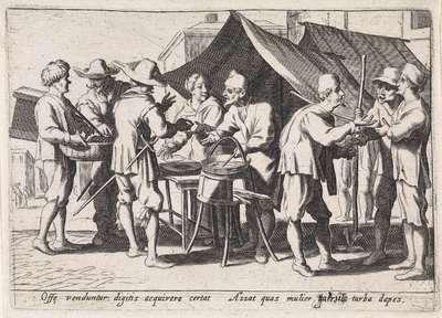 Verkopers van hapjes; Italiaanse handwerkslieden en verkopers