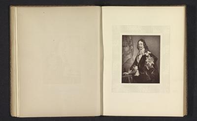 Fotoreproductie van een prent naar een portret van Karel I van Engeland door Anthony van Dyck