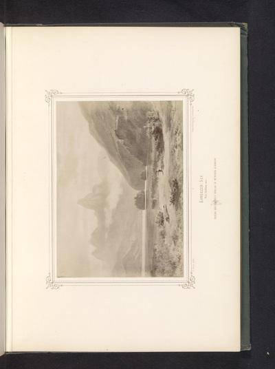 Image from object titled Fotoreproductie van een schilderij van de Lauerzersee; Lowerzer-See. Von Goldau aus