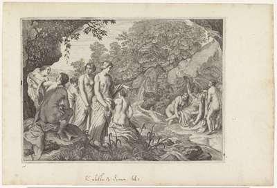 Diana ontdekt de zwangerschap van Callisto; Metamorfosen van Ovidius