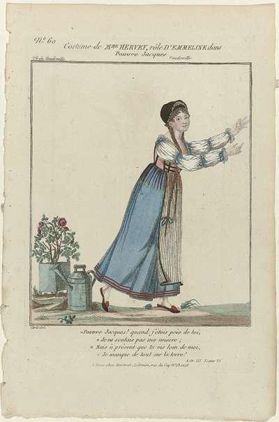Petite Galerie Dramatique, 1796-1843, No. 60: Costume de Mme Hervey (...).