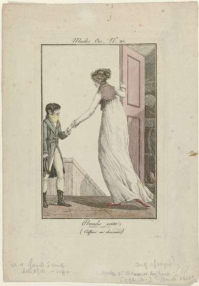 Modes et Manières du Jour, 1799-1800, No. 24: Prends vite; (...)