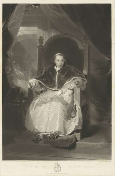 Image from object titled Portrait of Pope Pius VII