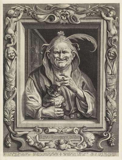 Oude nar met kat; Fatvo Ridemvr In Vno