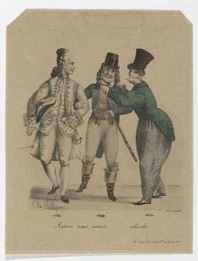 Autres tems, autres (...)..ridicules 1780-1800-1824, ca. 1829-1830