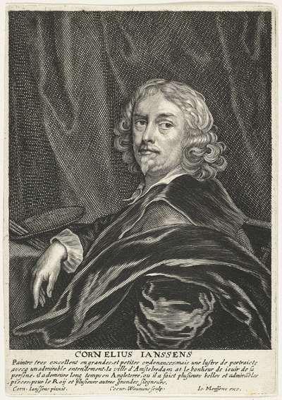 Portret van de schilder Cornelis Jonson van Ceulen (I)