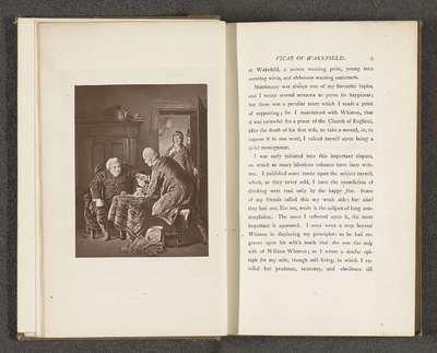 Fotoreproductie van het schilderij The Whistonian Controversy door William Mulready; The Whistonian Controversy