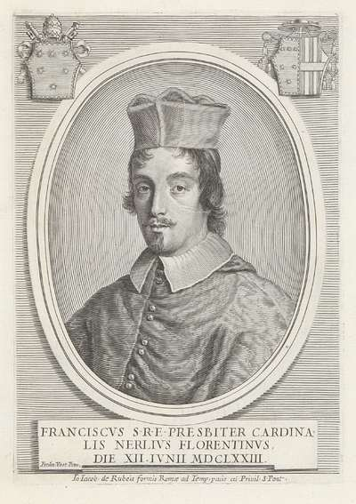 Portret van kardinaal Francesco Nerli; Effigies Nomina et Cognomina S.D.N. Alexandri Papae VII et RR. DD. SRE. Cardd (...).