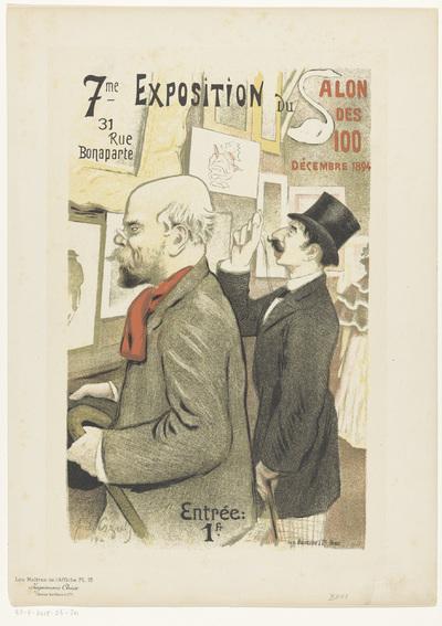 Advertentie voor de zevende expositie van de Salon des Cent; Les Maîtres de l'Affiche