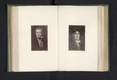Fotoreproductie van een schilderij, voorstellende een portret van Walter Scott