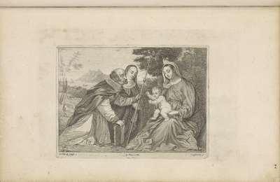 H. Nicolaas van Myra knielt voor Maria en het Christuskind