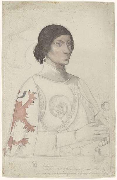 Studie naar het portret van een heer van Naaldwijk