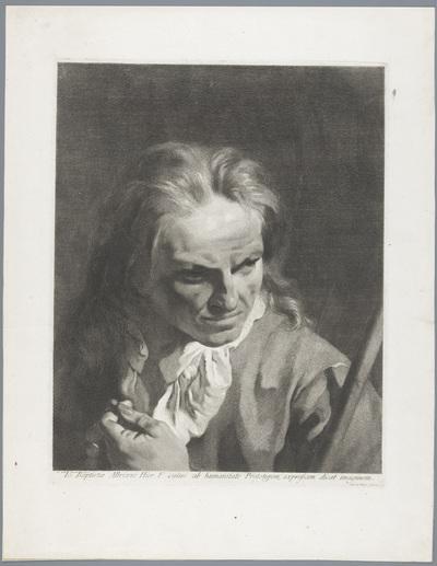 Man met rozenkrans en stok, mogelijk Giambatista Albrizzi