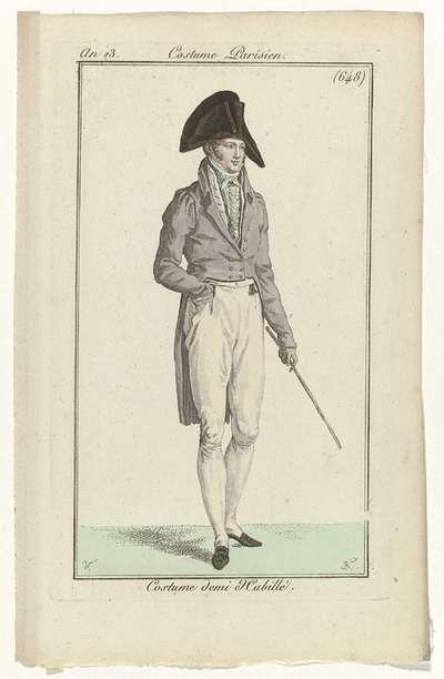 Journal des Dames et des Modes, Costume Parisien, 24 juin 1805, An 13, (648): Costume demi Habillé