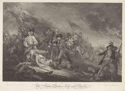 """""""The Battle at Bunker's Hill, near Boston"""" (voor de letter)"""