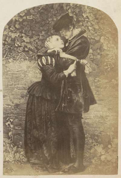 Fotoreproductie van een schilderij van John Everett Millais