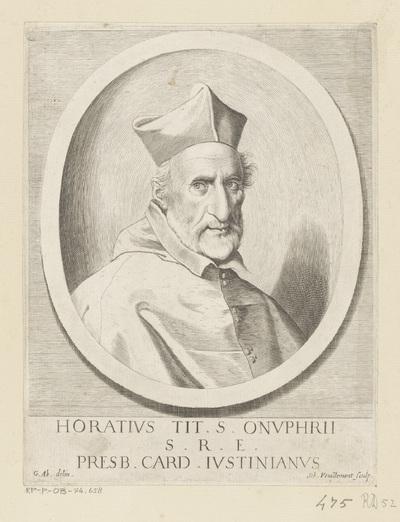 Portret van kardinaal Orazio Giustiniani; Horatius Tit. S. Onuphrii S.R.E. Presb. Card. Iustinianus