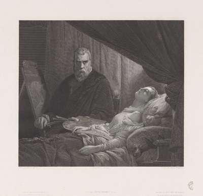 Tintoretto bij het sterfbed van zijn dochter