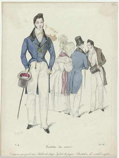 La Mode, 1830, Pl. 66, T.4 : Toilette du soi (...)