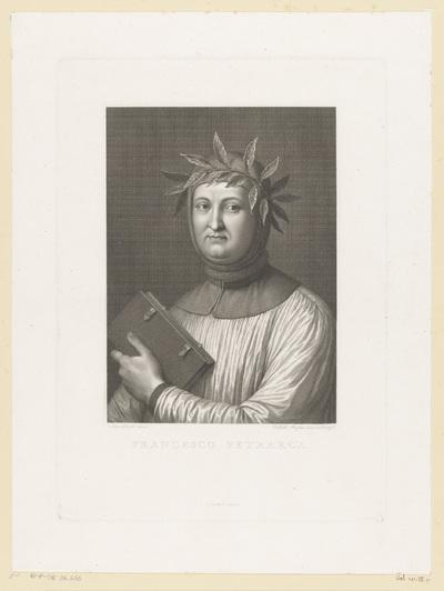 Portret van dichter Francesco Petrarca