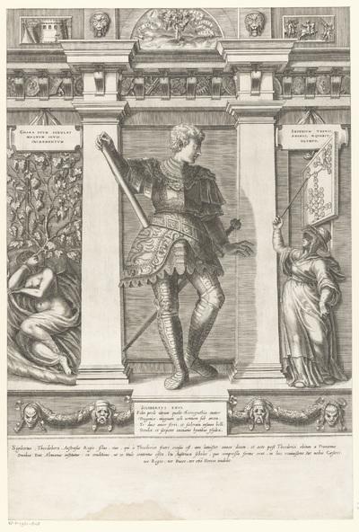 Portret van Sigebert I; Portretten van leden van het Oostenrijkse Huis; Austriacae gentis imaginum