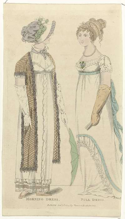 Ladies Monthly Museum, 1 october 1804 : Morning Dress. Full Dress.