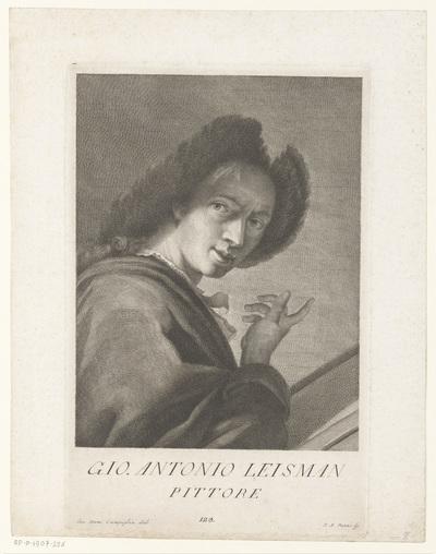 Portret van kunstenaar Johann Anton Eismann; Portretten van kunstenaars