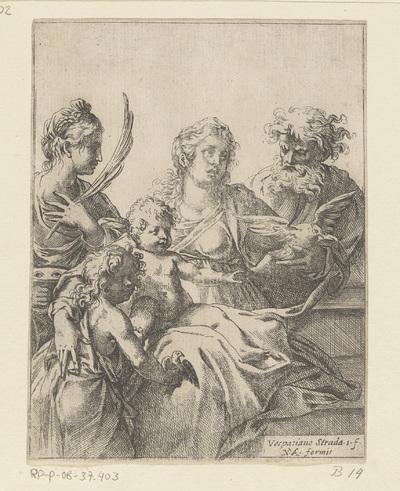 Heilige Familie met Johannes de Doper en Elisabet