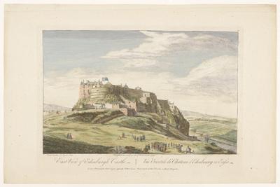 Gezicht op Edinburgh Castle; East view of Edinburgh Castle; Schotland