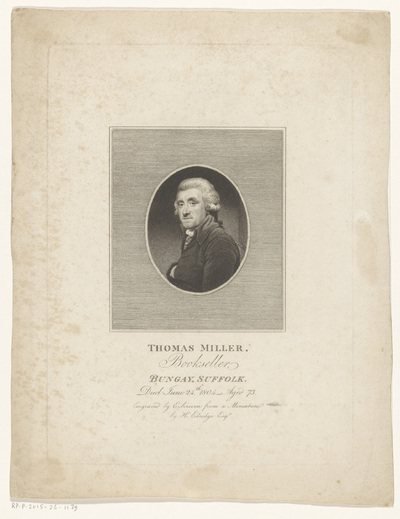 Portret van Thomas Miller, boekverkoper te Bungay; Thomas Miller, Bookseller, Bungay, Suffolk