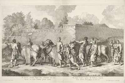 Stoet met ossen; Triomftocht van Alexander de Grote in Babylon