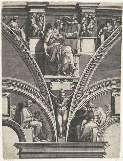 Sibille van Erythrae; Schilderingen in de lunetten boven de ramen in de Sixtijnse Kapel