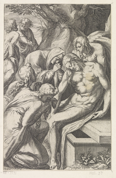 Bewening en graflegging van Christus