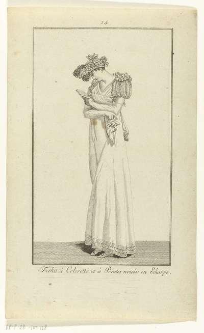 Elegantia, of tijdschrift van mode, luxe en smaak voor dames, Oktober 1807, No. 24 :Fichu à Colerette...