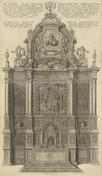 Sacramentsaltaar in de St. Michaelkerk te Brussel; Altaar St Gudule te Brussel