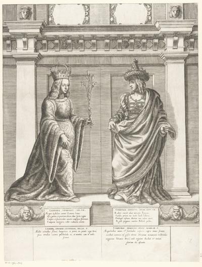 Dubbelportret van Eleonora Helena van Portugal en Cymburgis van Mazovië; Portretten van leden van het Oostenrijkse Huis; Austriacae gentis imaginum